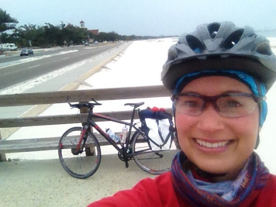Freezing cold ride, but still happy!