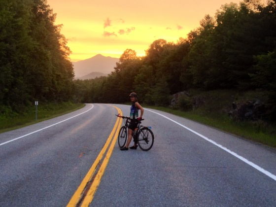 sunset ride in the Adirondacks